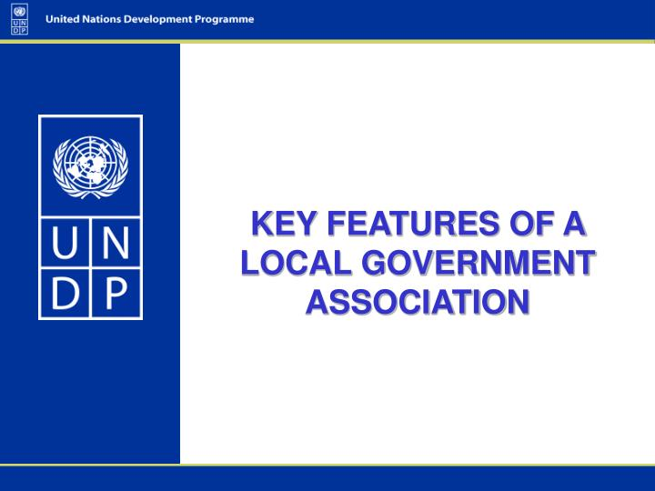 key features of a local government association n.