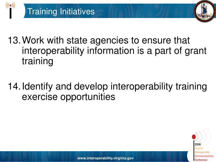 Training Initiatives
