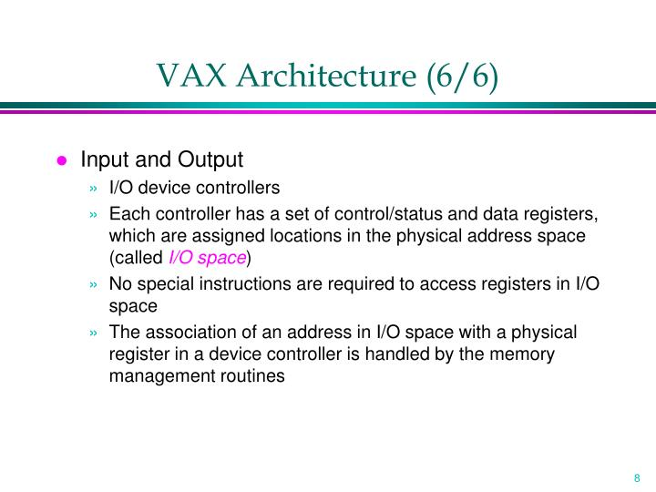 VAX Architecture (6/6)