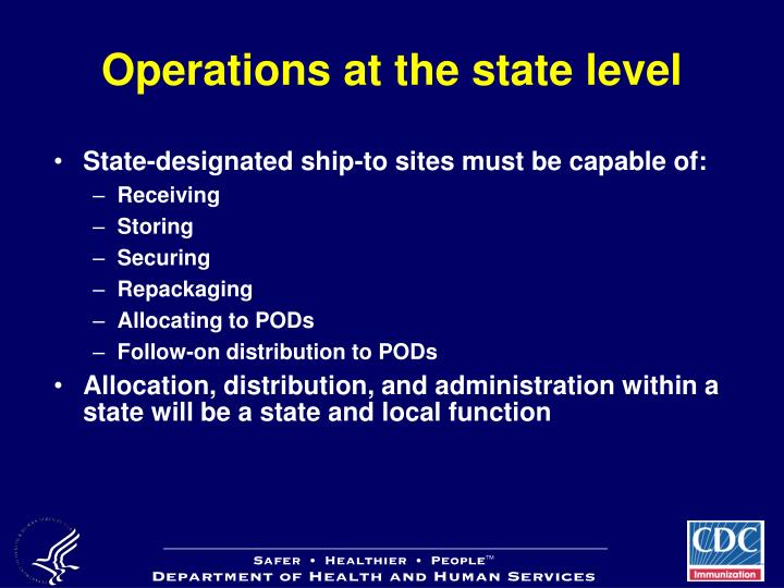 Operations at the state level