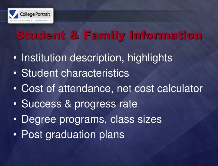 Student & Family Information