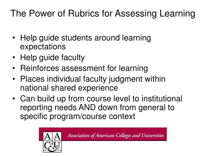 The Power of Rubrics for Assessing Learning