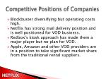 c ompetitive p ositions of companies