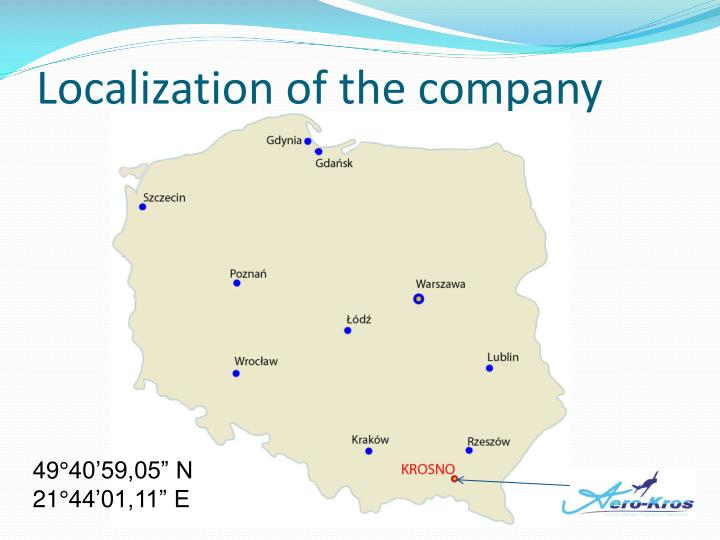 Localization of the company
