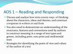 aos 1 reading and responding