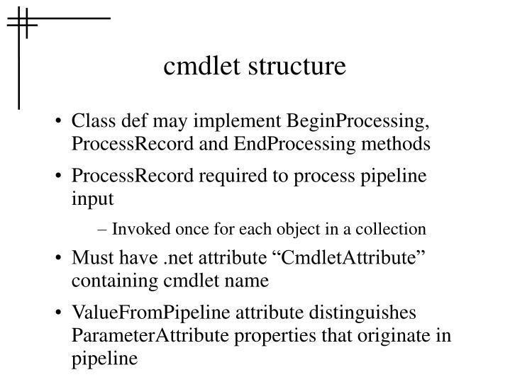 cmdlet structure