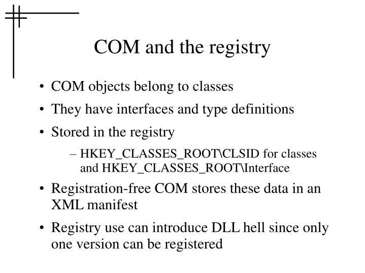 COM and the registry
