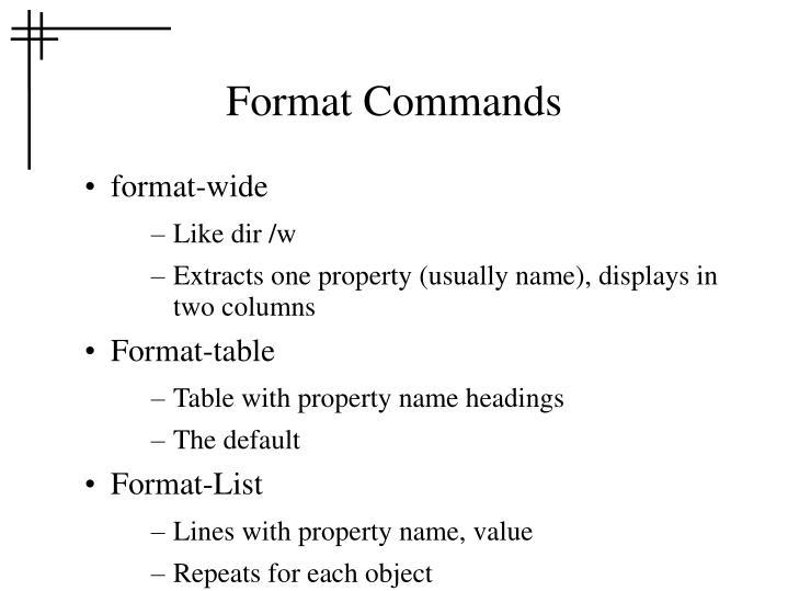 Format Commands
