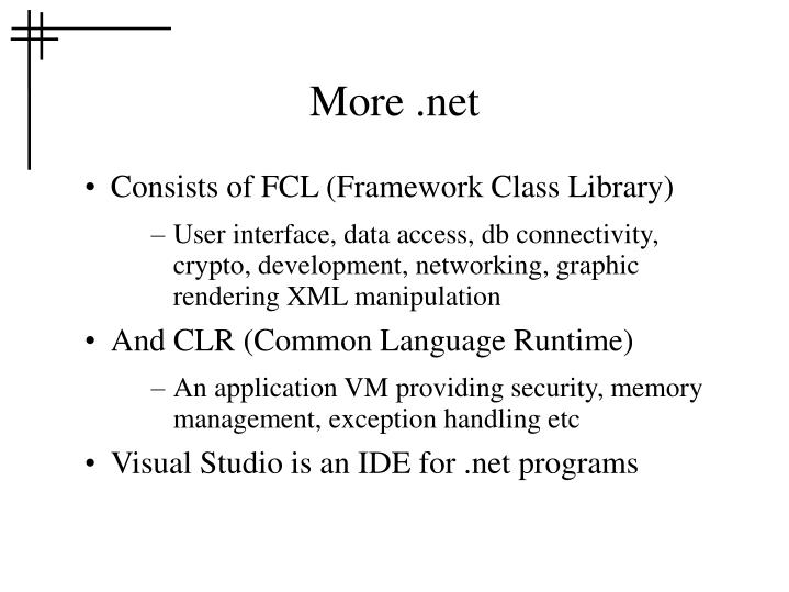 More .net