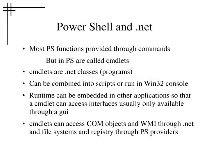 Power Shell and .net
