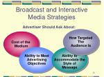 broadcast and interactive media strategies