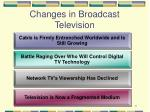 changes in broadcast television