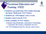 vocational education and training vet