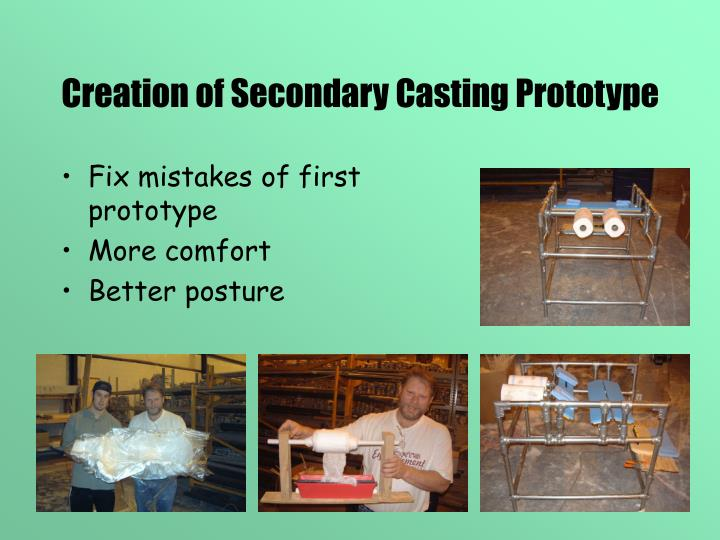 Creation of Secondary Casting Prototype