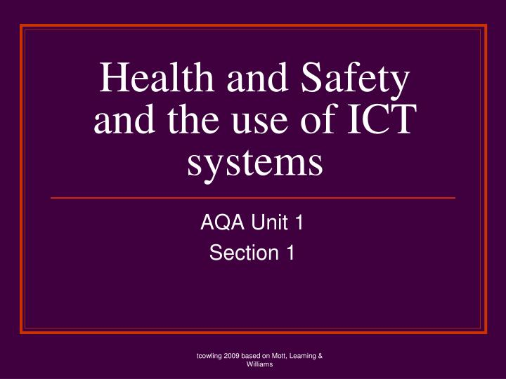 health and safety and the use of ict systems n.