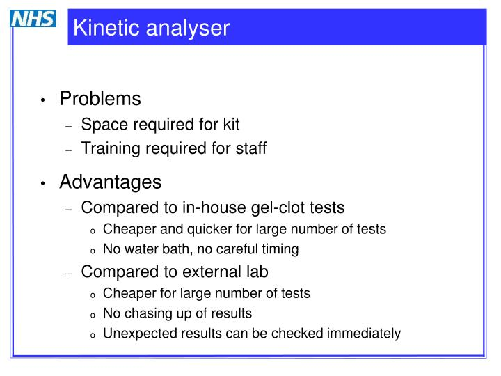 Kinetic analyser