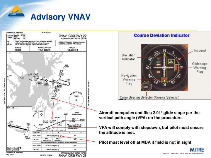 Advisory VNAV