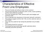 characteristics of effective front line employees