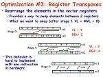 optimization 3 register transposes
