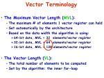 vector terminology