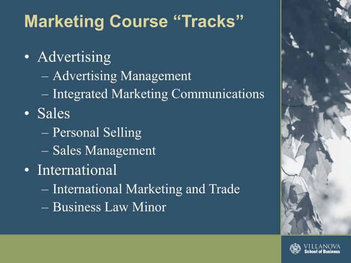 "Marketing Course ""Tracks"""