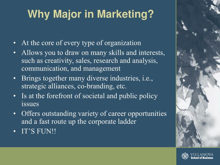 Why major in marketing