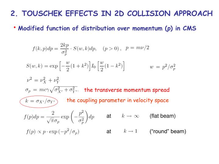 Modified function of distribution over momentum (