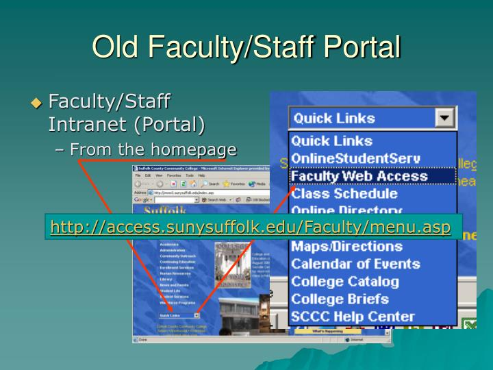 Old Faculty/Staff Portal