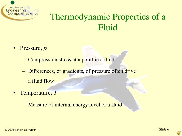 Thermodynamic Properties of a Fluid
