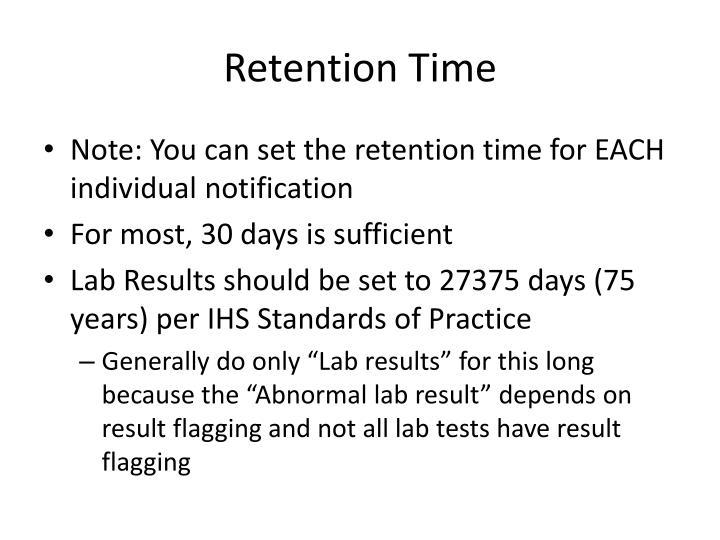 Retention Time