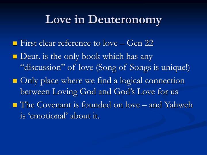 Love in Deuteronomy