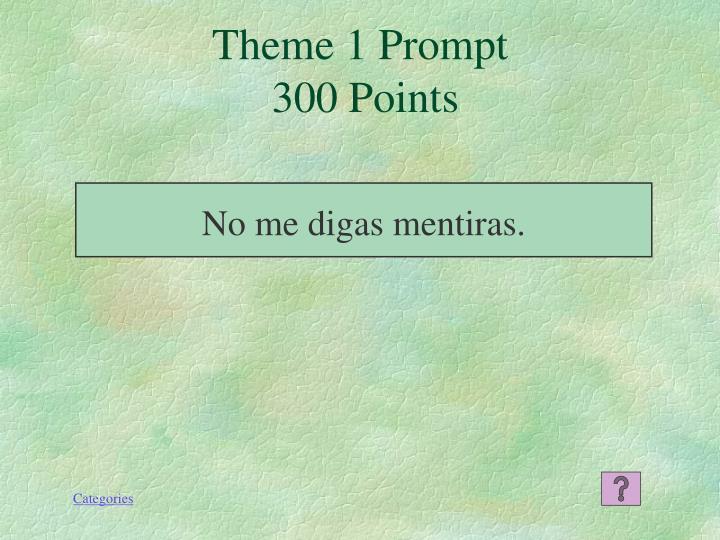 Theme 1 Prompt