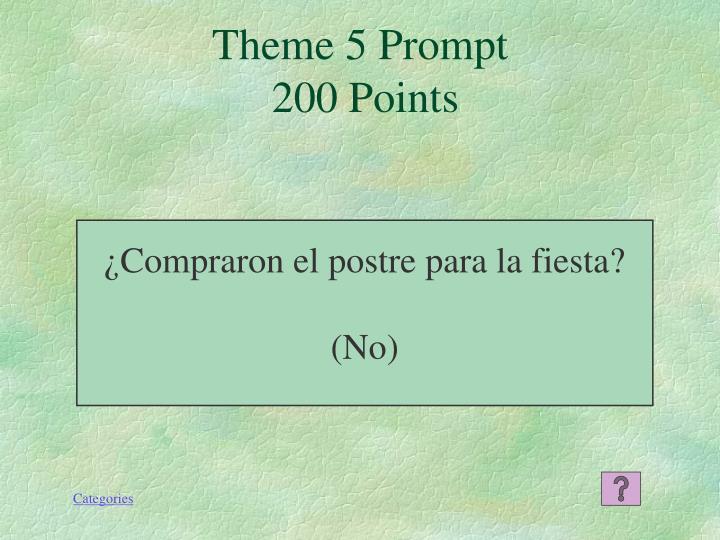 Theme 5 Prompt