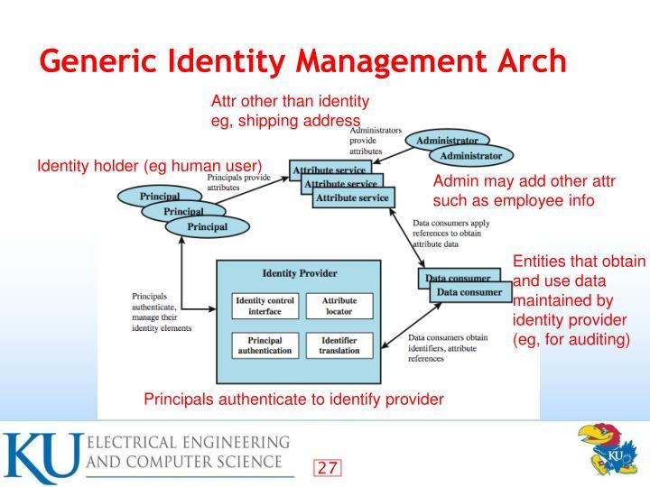 Generic Identity Management Arch