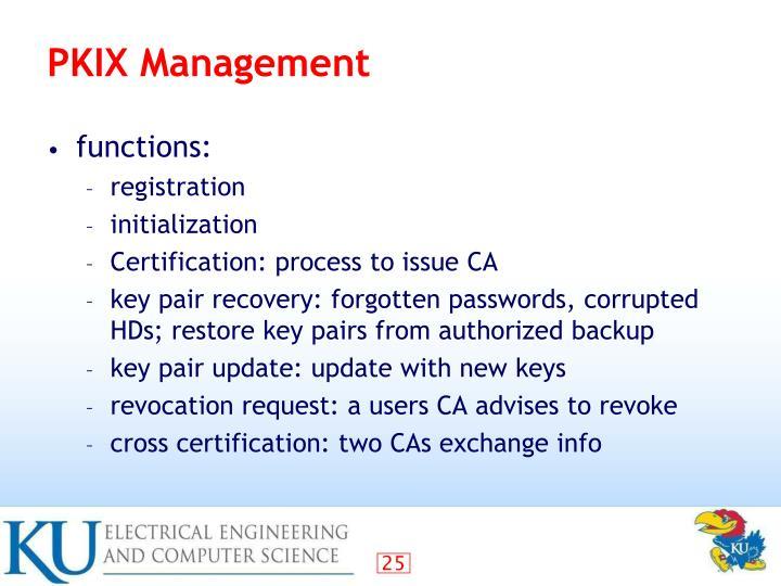 PKIX Management