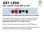 get less the switch from rpi to cpi