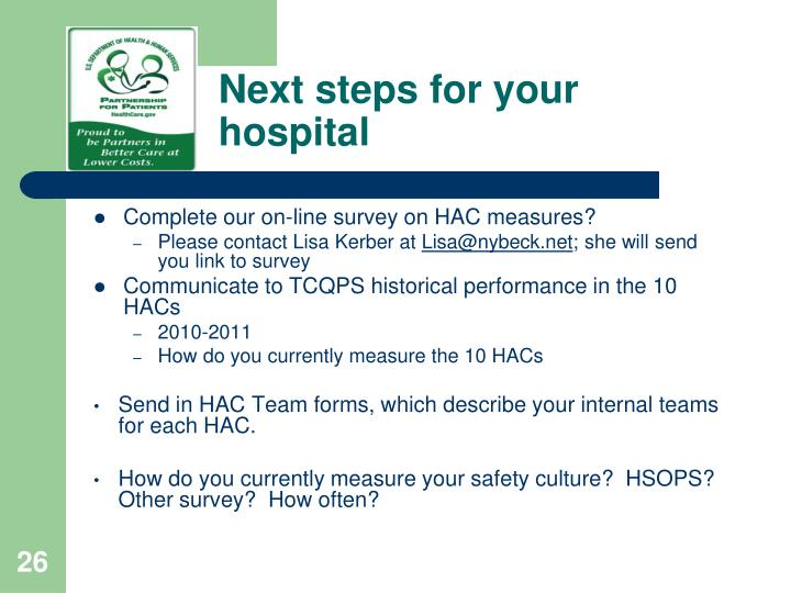 Next steps for your hospital