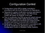 configuration control