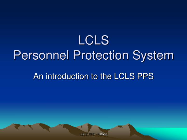 lcls personnel protection system n.