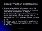 security violation and response