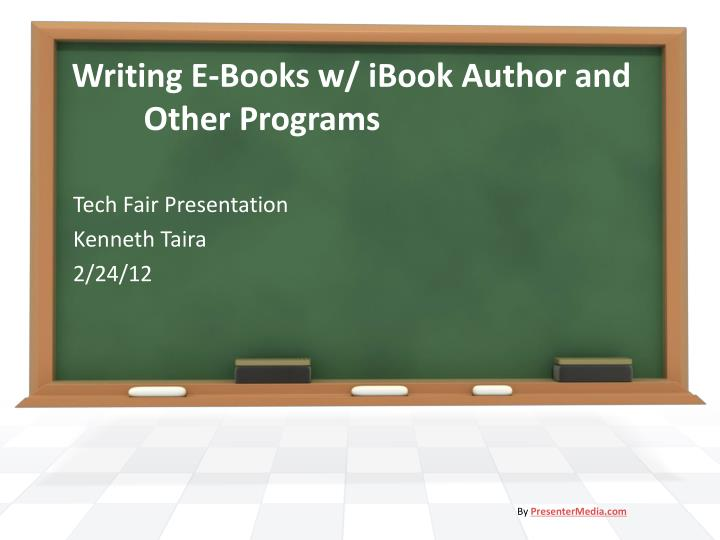 writing e books w ibook author and other programs n.