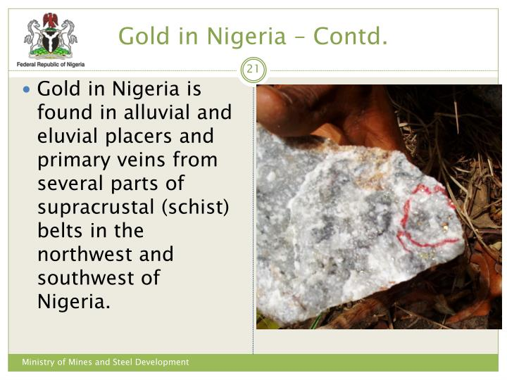 Gold in Nigeria – Contd.