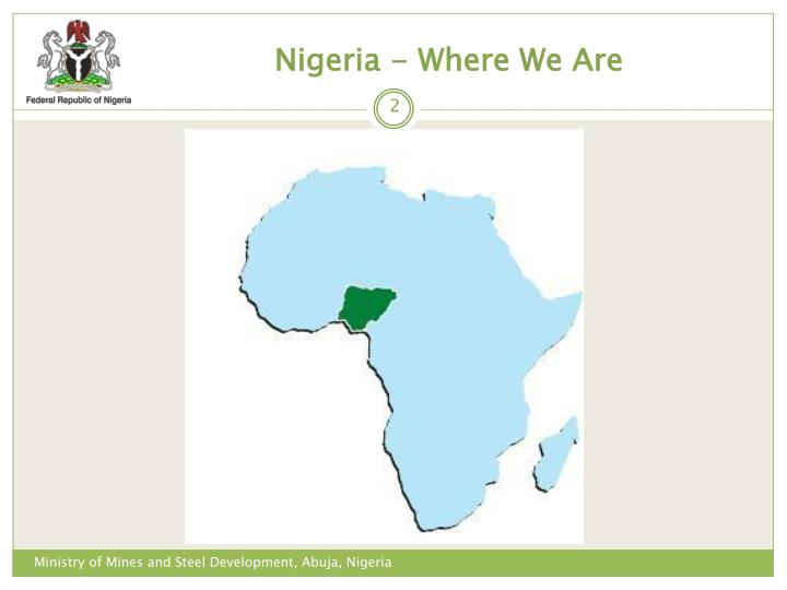 Nigeria - Where We Are