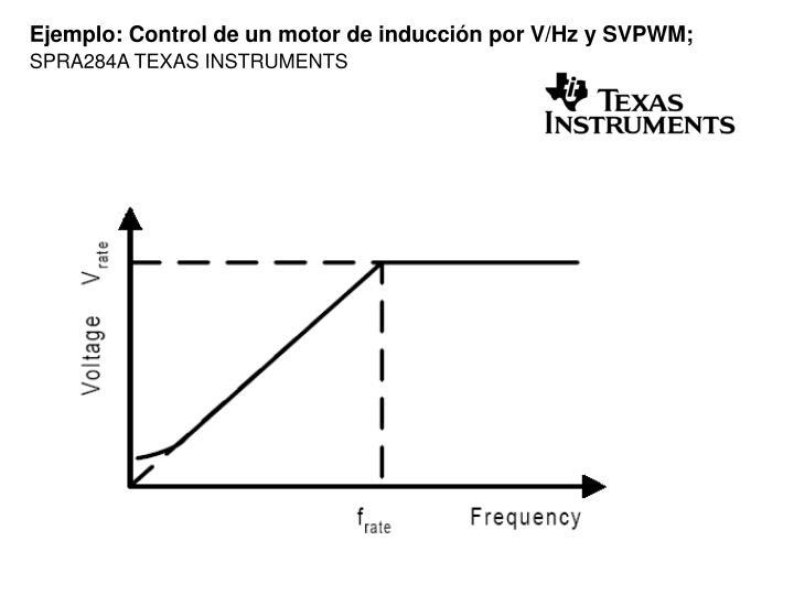 Ejemplo: Control de un motor de inducción por V/Hz y SVPWM;