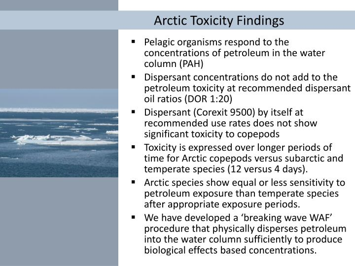 Arctic Toxicity Findings