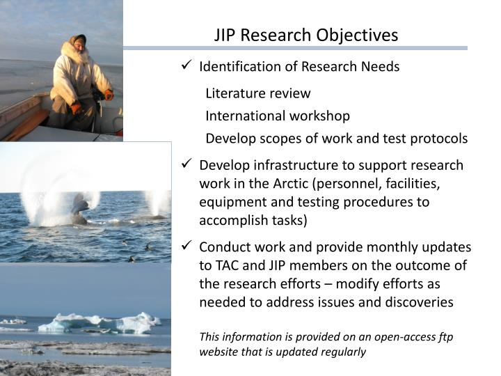 Jip research objectives
