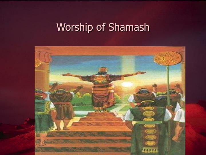 Worship of Shamash