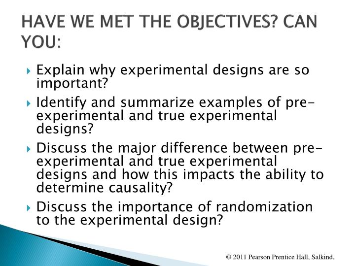 HAVE WE MET THE OBJECTIVES? CAN YOU: