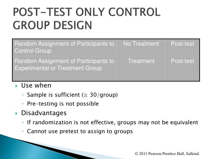 POST-TEST ONLY CONTROL GROUP DESIGN