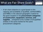 what are fair share goals